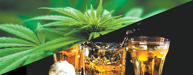"The interplay of booze and cannabis can lead to ""greening out."""