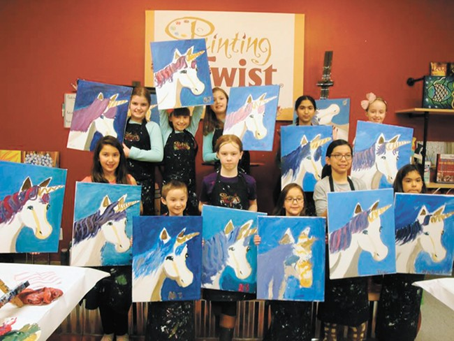 During Painting with a Twist's summer arts camps, kids create a new masterpiece each day.