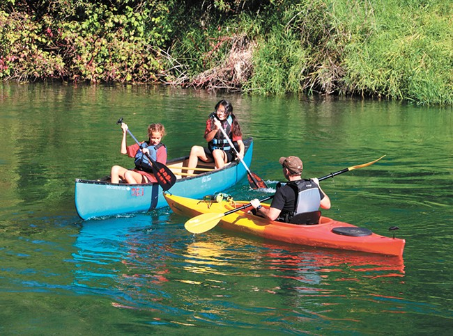 Float the river at Saint George's Lower School Adventure Camp.
