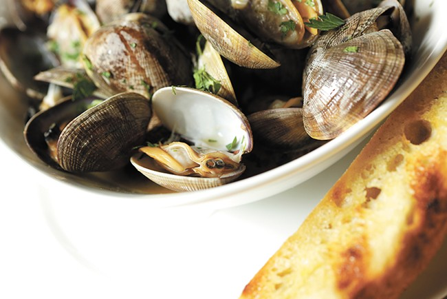 Park Lodge's menu features many familiar dishes, like steamed Manila clams. - YOUNG KWAK