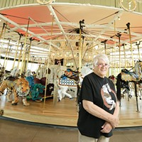 Bette Largent keeps the Looff Carrousel looking as sharp as it did more than 100 years ago