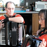 They traded in their dancing shoes for accordions after moving to Newport, and they want  to jam