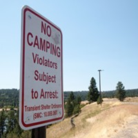 The city's newest addition to Kendall Yards' Centennial Trail: 18 anti-homeless-camping signs