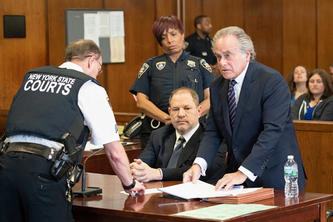 Harvey Weinstein, with his lawyer, Benjamin Brafman, right, appears in criminal court in Manhattan, June 5, 2018. Weinstein, appearing in court on Tuesday morning, pleaded not guilty to the sexual assault charges lodged against him last month. It was Weinstein's first time back in court since his May 25 arrest on charges that he sexually assaulted two women in New York. - STEVEN HIRSCH/POOL VIA THE NEW YORK TIMES