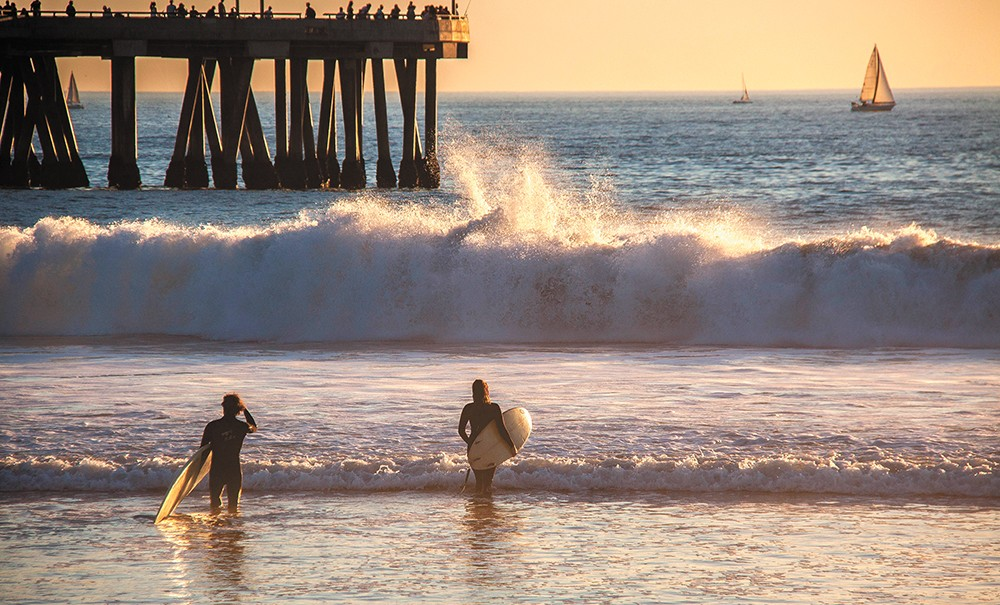 The waves are beckoning you to Venice Beach. - CHRIS GOLDBERG PHOTO
