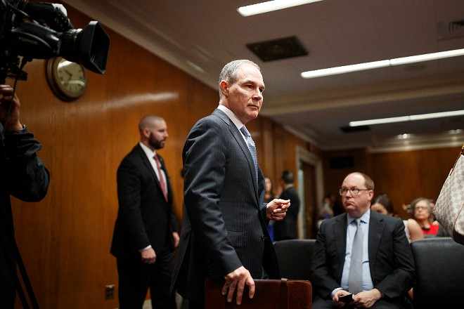Scott Pruitt, the Environmental Protection Agency administrator - TOM BRENNER/THE NEW YORK TIMES
