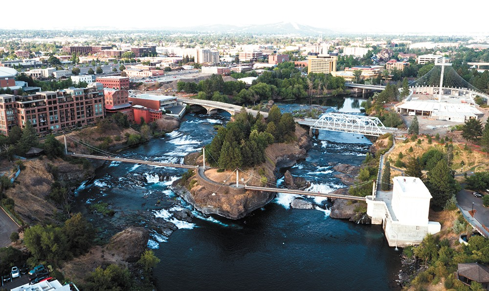 The Spokane River from downtown. - JAMES NISBET PHOTO