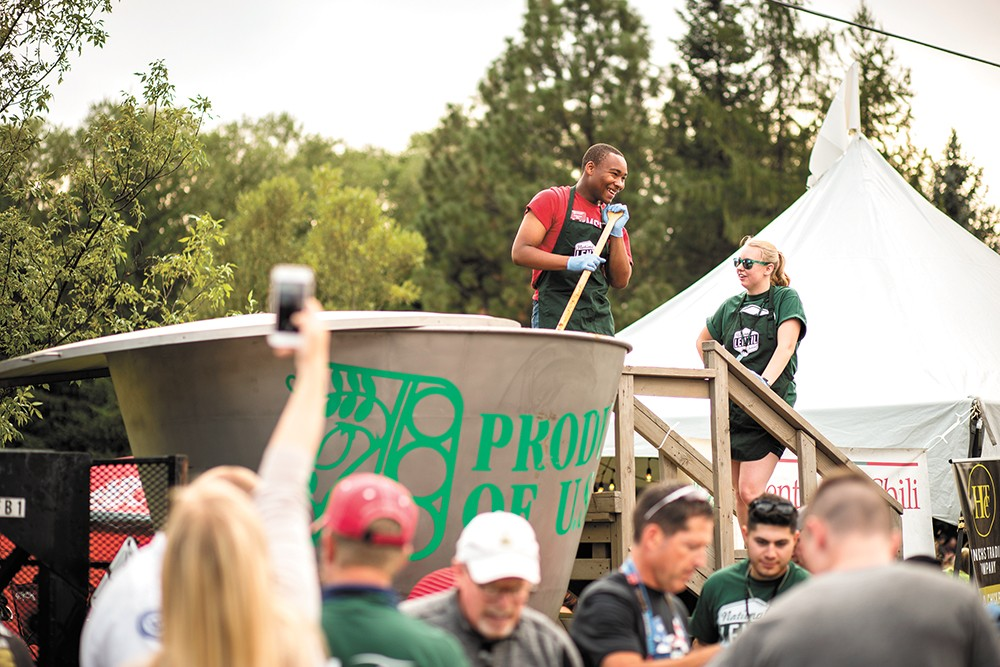 An annual highlight is Lentil Fest's 350-gallon bowl of lentil chili. - ANDREW LANG PHOTO