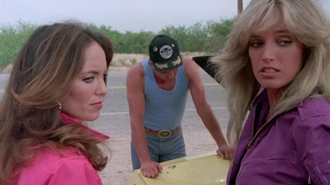 The expression you make when looking back at Dan Nailen's old tweets. - CANNONBALL RUN II/IMDB.COM