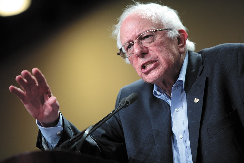 U.S. Sen. Bernie Sanders wants corporations like Amazon to pay for public assistance used by their employees. - GAGE SKIDMORE PHOTO