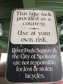 River Park Square's bike security system - DANIEL WALTERS PHOTO