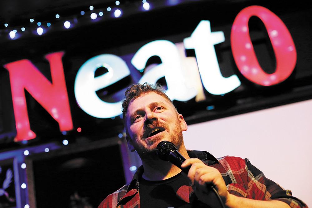 Comedian Casey Strain at Neato Burrito. - YOUNG KWAK