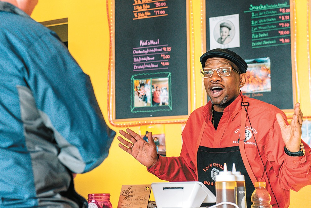 Reggie Perkins is closing up his Spokane barbecue joint. - ERICK DOXEY PHOTO