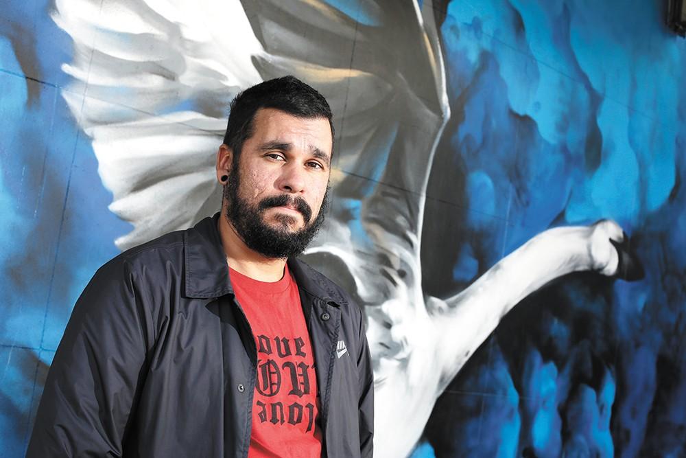 Daniel Lopez's art is becoming omnipresent in Spokane. - YOUNG KWAK