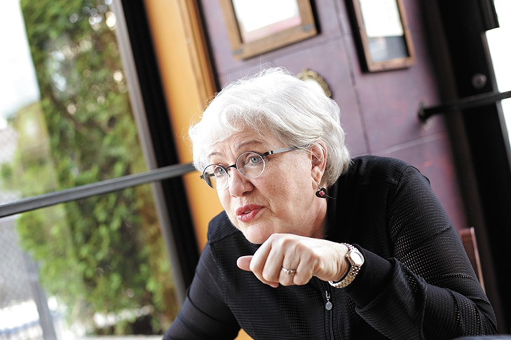 Julia Sweeney discusses her career at Rocket Bakery in July. - YOUNG KWAK
