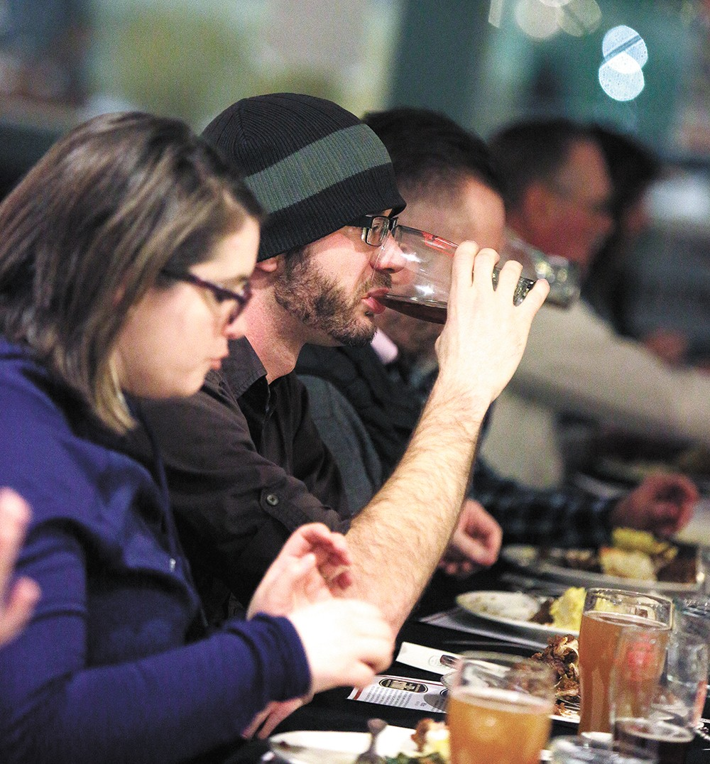 A recent beer dinner by the Wandering Table. - YOUNG KWAK