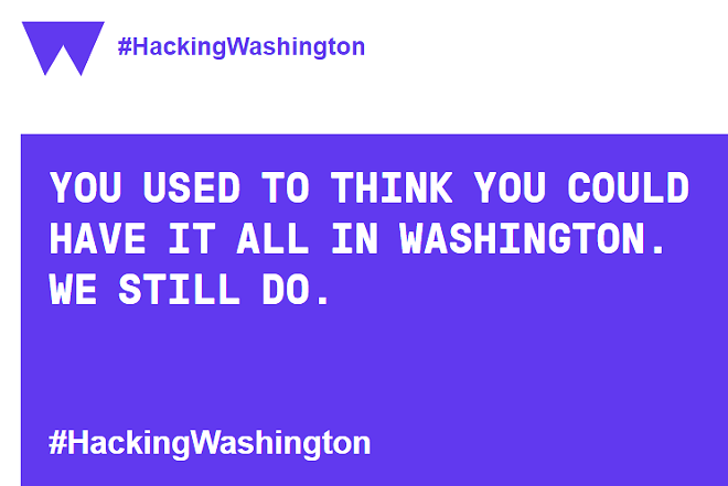 What does #HackingWashington mean? And does that question work in the campaign's favor? - HACKING WASHINGTON WEBSITE