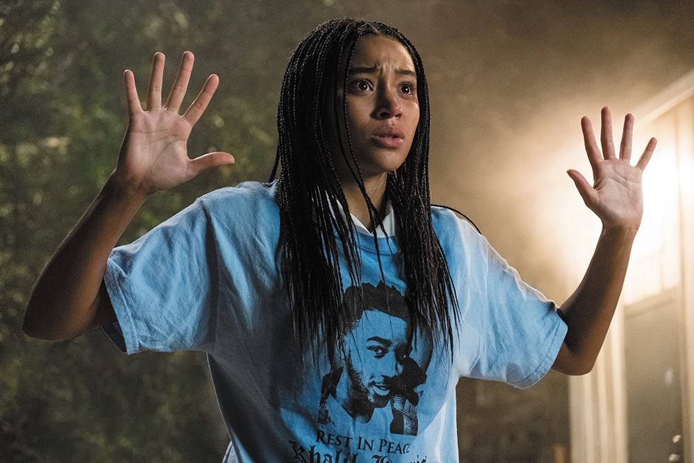 Amandla Stenberg is a teenager who becomes an unwitting figure in a police brutality trial in the provocative YA adaptation The Hate U Give.