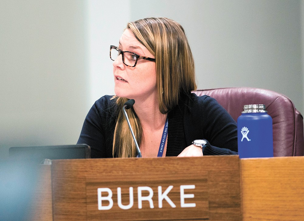 Kate Burke was the lone vote against an affordable house ordinance on Monday, saying it didn't include enough safeguards. - DANIEL WALTERS PHOTO