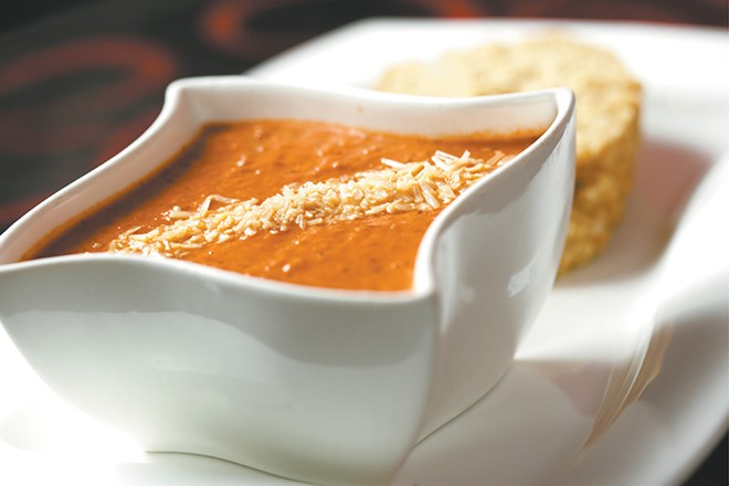 Soulful Soups' tomato basil is chunky and filling. - YOUNG KWAK