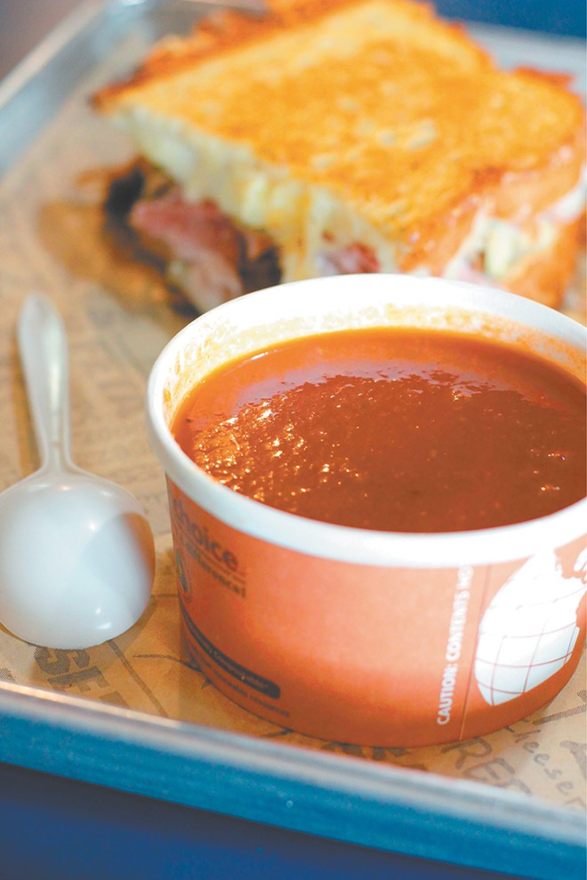 "Meltz in Coeur d'Alene serves its ""Xtreme"" tomato soup as a meal, side or combo. - CARRIE SCOZZARO PHOTO"
