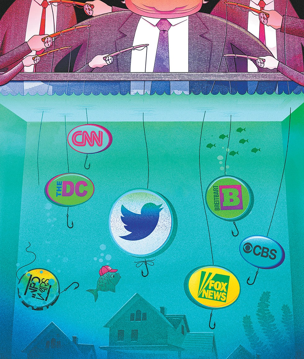 The news media's quest for clicks has undermined America's trust in journalism. - ANSON STEVENS-BOLLEN ILLUSTRATION