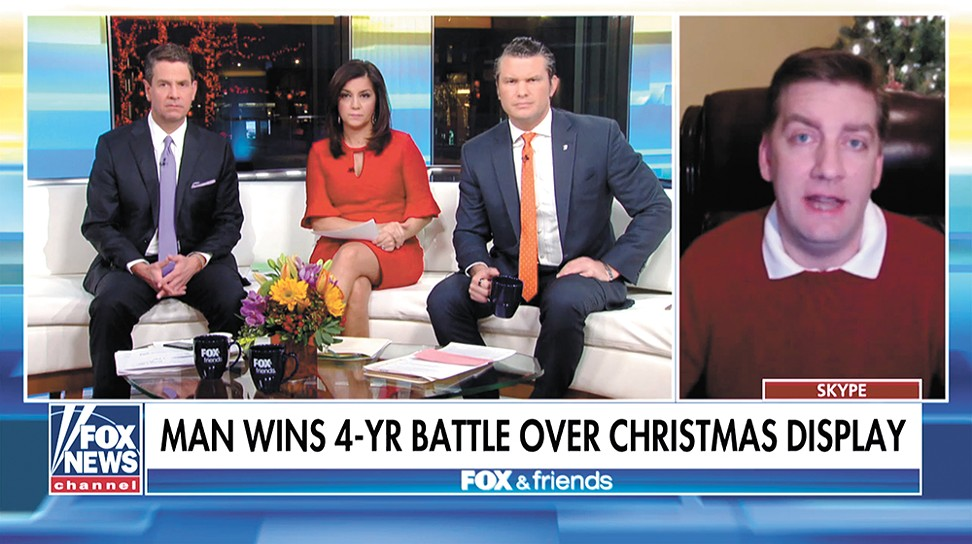 """If anyone doubts that the War on Christmas — or as I like to call it, the 'War on Christians' — is real in this country, they can just look to my case for proof of that,"" Morris said on Fox & Friends on Sunday."
