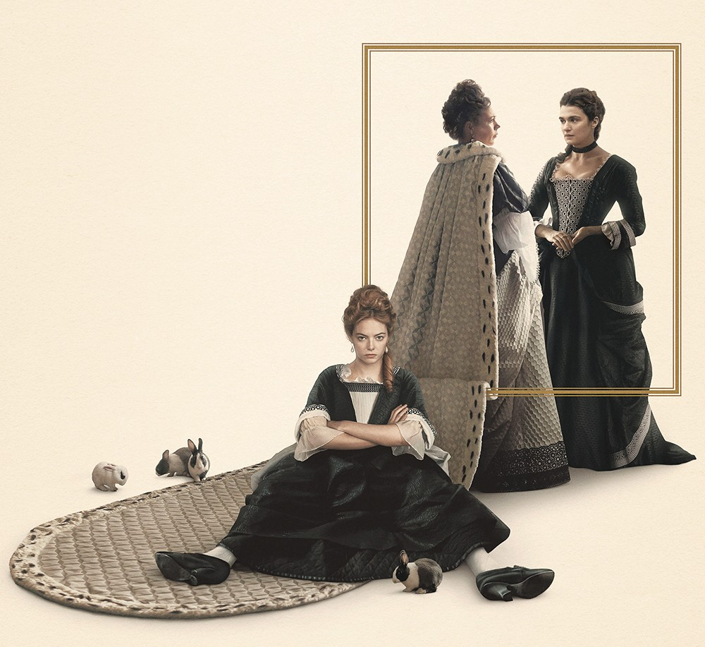 Emma Stone schemes her way to the top in The Favourite.