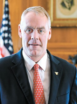 Outgoing Interior Secretary Ryan Zinke