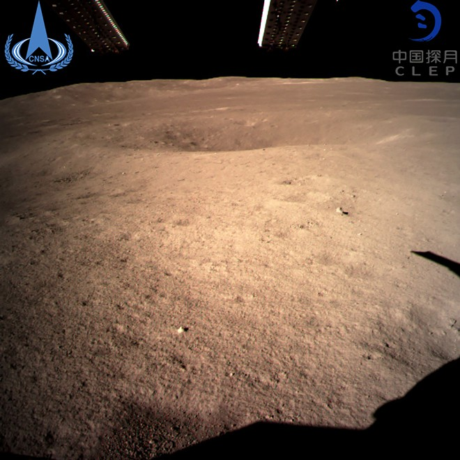 A photo provided on Thursday, Jan. 3, 2019, by the China National Space Administration, showing the first image of the far side of the moon taken by the Chang'e-4 probe. China reached a milestone in space exploration on Thursday, landing a vehicle on the far side of the moon for the first time in history, the country's space agency announced. - CHINA NATIONAL SPACE ADMINISTRATION VIA THE NEW YORK TIMES