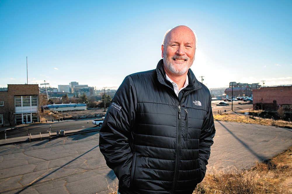 Eric Sawyer, president and CEO of the Spokane Sports Commission, hopes a new Sportsplex will attract national events to Spokane. - ERICK DOXEY PHOTO