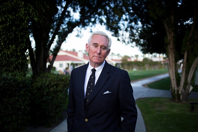 Roger Stone at the La Quinta Resort and Club in La Quinta, Calif., March 3, 2017. - JENNA SCHOENEFELD/THE NEW YORK TIMES