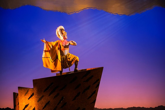 Jared Dixon stars as the older Simba. - DEEN VAN MEER PHOTO