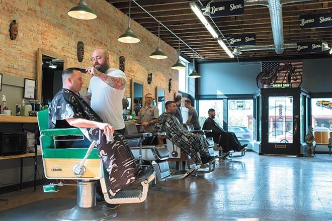 Brickyard Barbershop, located on North Monroe - HECTOR AIZON PHOTO