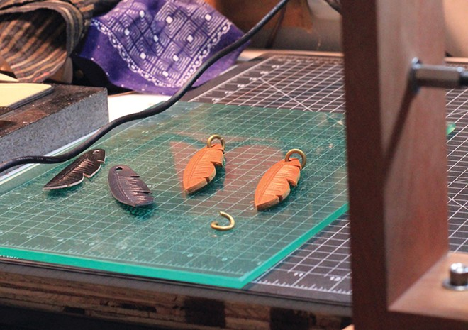 Westward Leather Company products in progress. - CARRIE SCOZZARO PHOTO