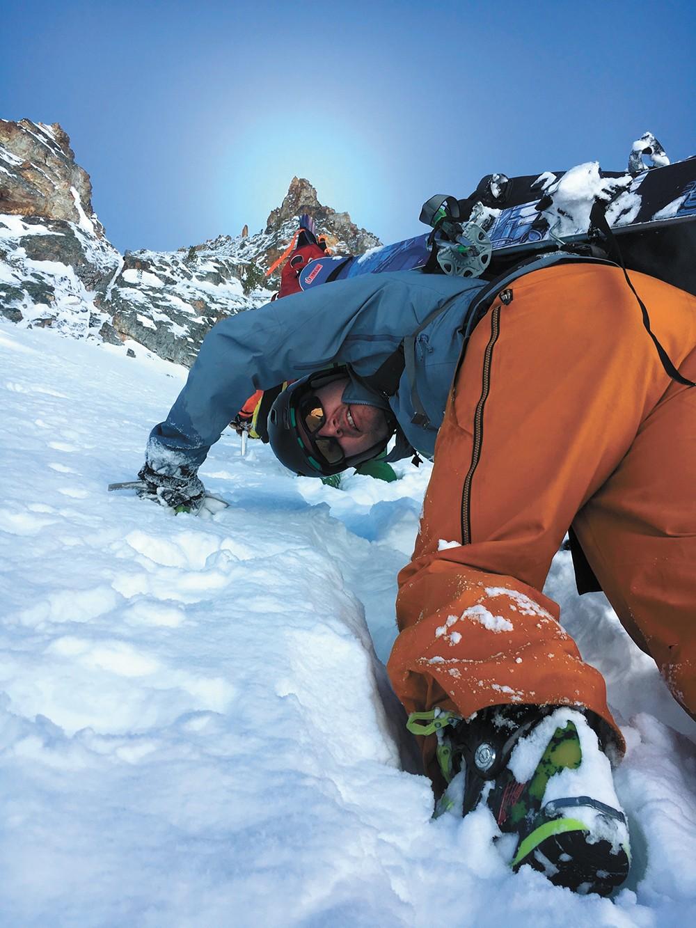 Climbing to the top. - RYAN RICARD PHOTO