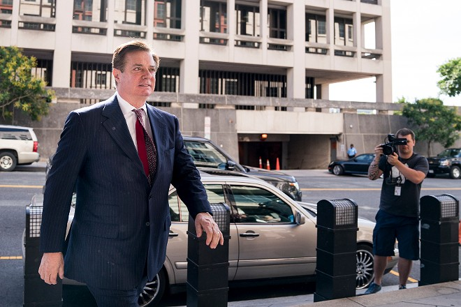 Paul Manafort, President Donald Trump's former campaign chairman, arrives to the federal courthouse for an arraignment hearing in Washington, June 15, 2018. - ERIN SCHAFF/THE NEW YORK TIMES