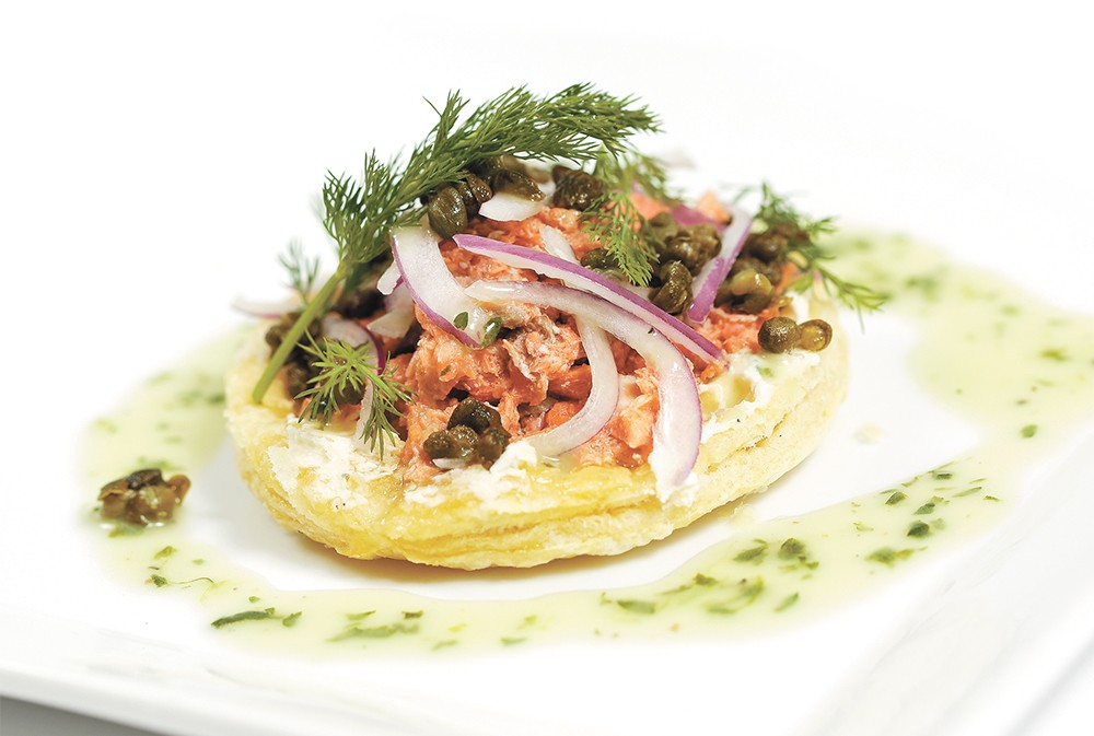 Smoked salmon tart from Ambrosia Bistro and Wine Bar