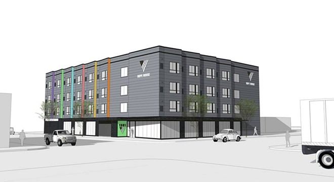 """Hope House 2.0"" will feature 100-120 shelter beds and 60 low-income units - COURTESY OF VOA"