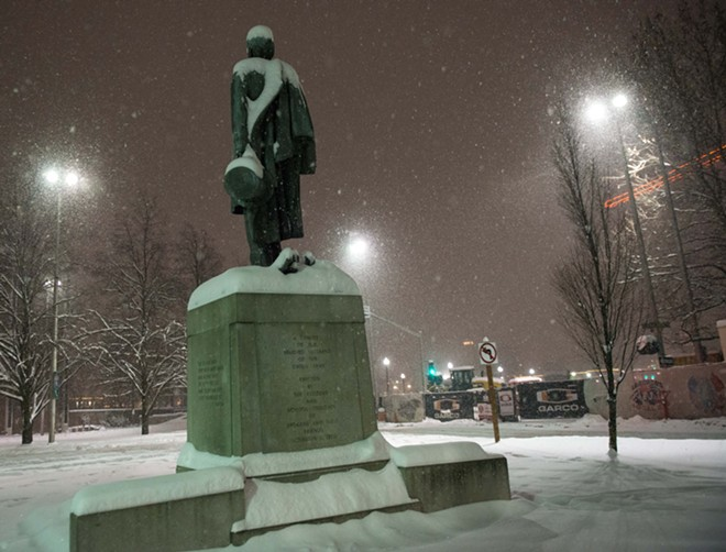 The Lincoln statue in Downtown Spokane - DANIEL WALTERS PHOTO