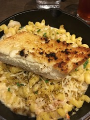 Crab mac and cheese is a main course choice at Three Peaks. - SAMANTHA WOHLFEIL PHOTO