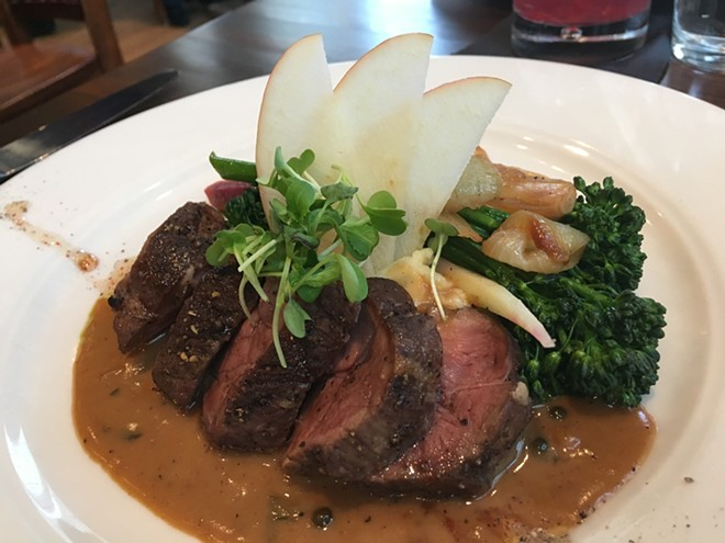 Wild Sage is offering a succulent pork tenderloin as an entree option on its $31 Inlander Restaurant Week menu. - SAMANTHA WOHLFEIL PHOTO