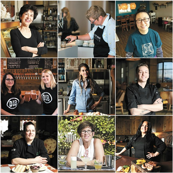 Top row: Fery Haghighi, Kristen Scott-Silver, Jeannie Choi. Middle row: Linda Johnson and Jamie Sweetser, Celeste Shaw, Blerita Kaba. Bottom row: Christie Sutton, Renee Cebula, Lesa Lebeau.