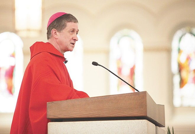 Despite his stated intentions to tamp down in some of the biggest Catholic culture war controversies, Cardinal Blase Cupich has been sucked into them. - YOUNG KWAK PHOTO