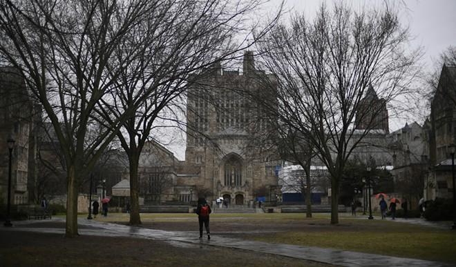 The Yale University campus in New Haven, Conn., Feb. 24, 2018. Federal prosecutors on March 12, 2019, charged dozens of people, including coaches at top universities around the country, for paying for or accepting bribes to admit student applicants. Both coaches and private admissions counselors received millions of dollars for helping to get students admitted as athletes to Yale, Stanford and University of Southern California, regardless of their academic or sports ability, the authorities say. - JESSICA HILL/THE NEW YORK TIMES