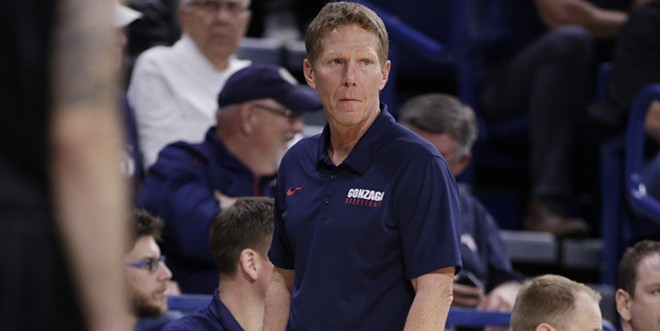 Gonzaga head coach Mark Few looks on during a game. - YOUNG KWAK PHOTO