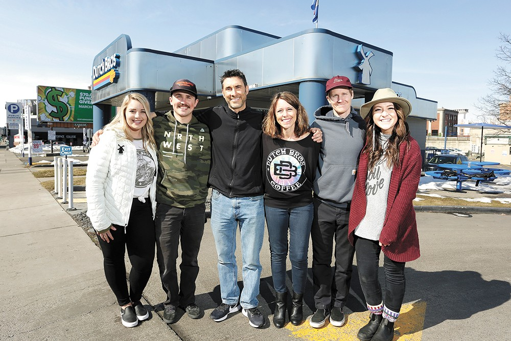 Members of the award-winning team (from left): Abby Clayton, Connor Barbour, Kevin Parker, Kerry Parker, Mason Sutter and Jenny Sutter. - YOUNG KWAK PHOTO