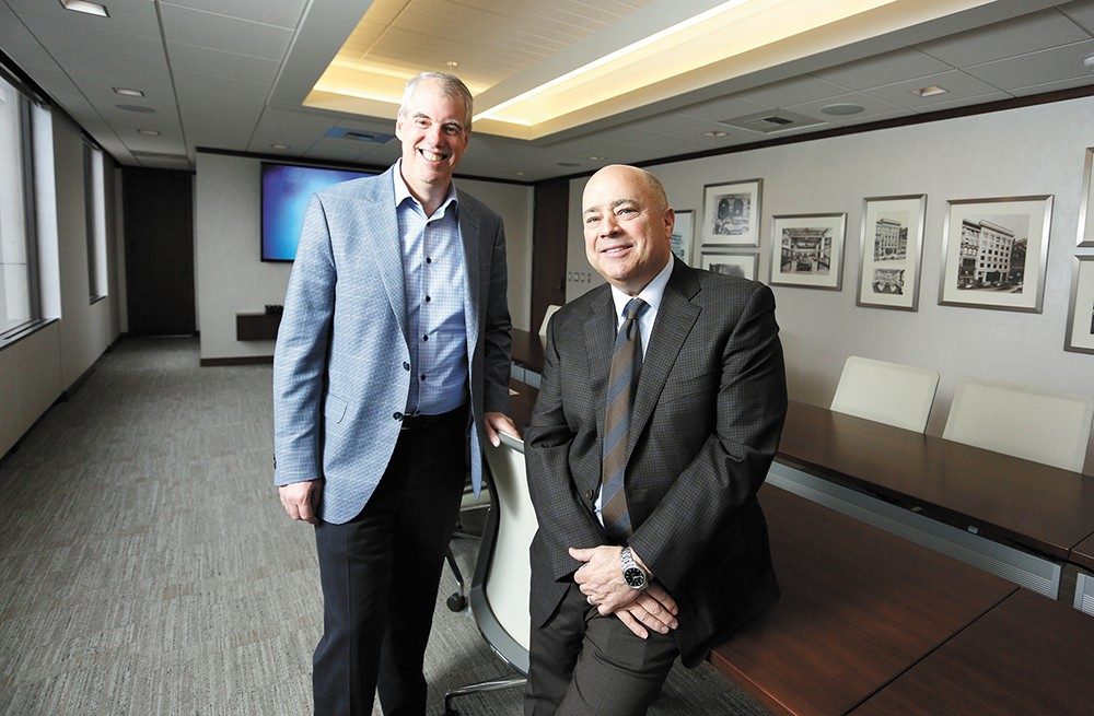 Washington Trust CEO Peter Stanton (right) and President Jack Heath. - YOUNG KWAK PHOTO
