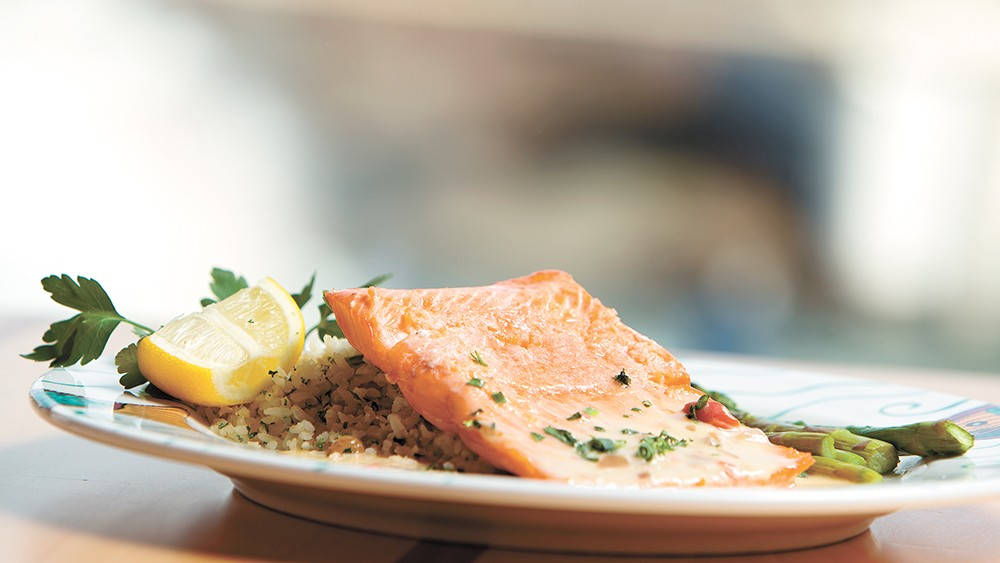 Anthony's knows their seafood, including this tasty Alaskan king salmon. - YOUNG KWAK PHOTO