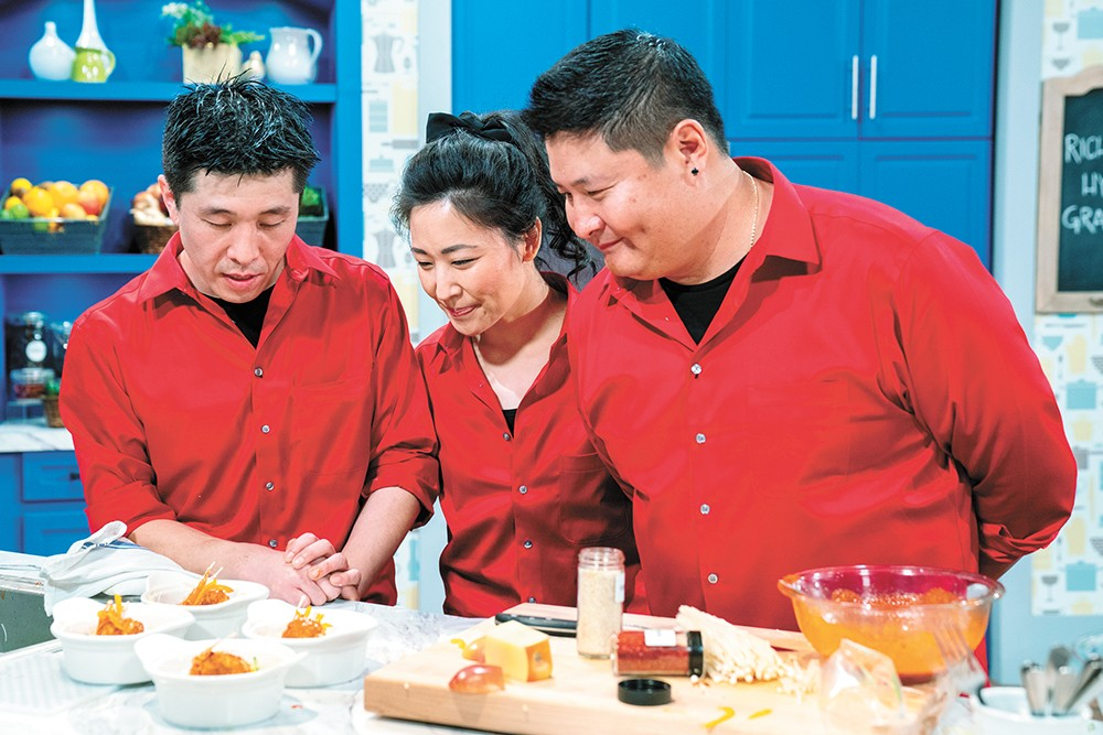 The Son family competing on Family Food Showdown.
